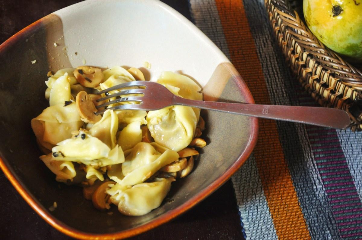 Quick Mushroom Tortellini Dish