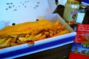 Fish and Chips go well with an icy Ginger Beer
