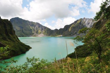 The volcanic crater lake of Mt. Pinatubo