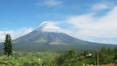 Mt. Mayon, a perfect cone volcano